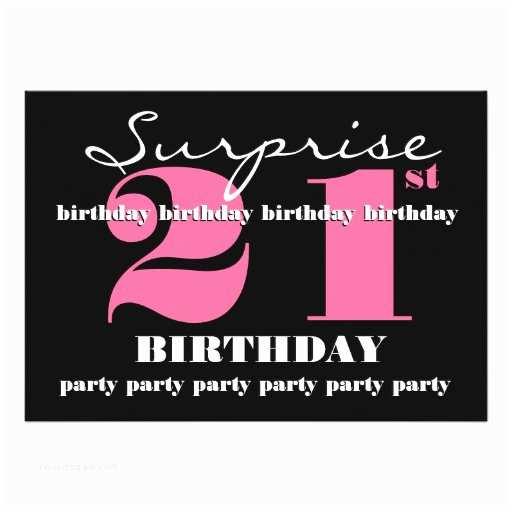 """Surprise Party Invitation Template 21st Surprise Birthday Party Invitation Template 5"""" X"""