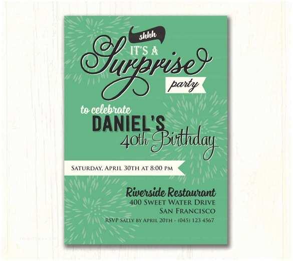 Surprise Party Invitation Template 26 Surprise Birthday Invitation Templates – Free