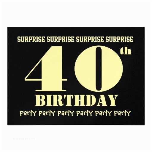 Surprise Party Invitation  40th Surprise Birthday Party Invitation