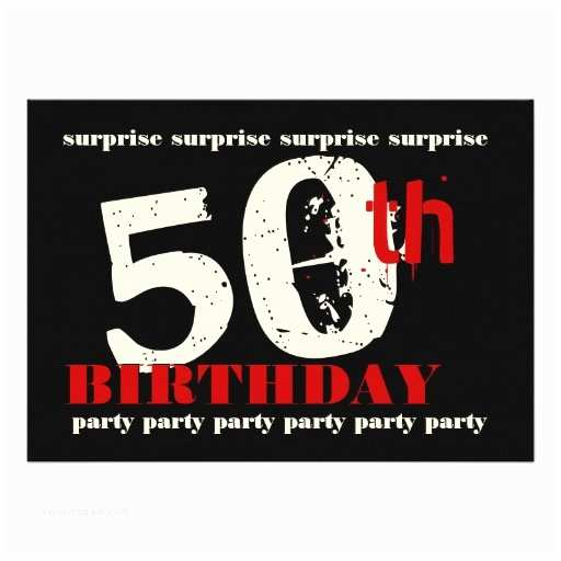 Surprise Party Invitation  50th Surprise Birthday Party Invitation