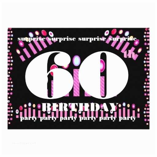 "Surprise Party Invitation Template 60th Surprise Birthday Party Invitation Template 5"" X 7"