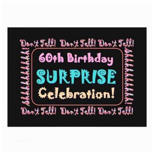 Surprise Party Invitation  60th Surprise Birthday Party Invitation