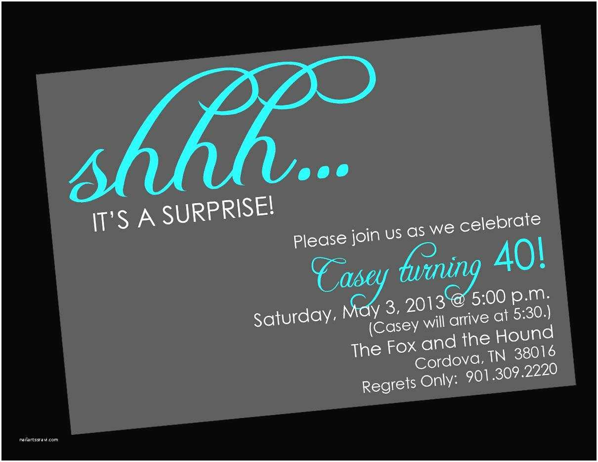 Surprise Party Invitation Template Birthday Party Surprise Birthday Invitations Card
