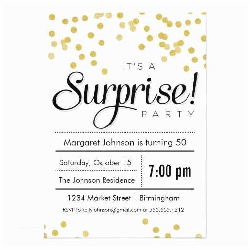 """Surprise Party Invitation Template Confetti Surprise Party Invitation 5"""" X 7"""" Invitation"""