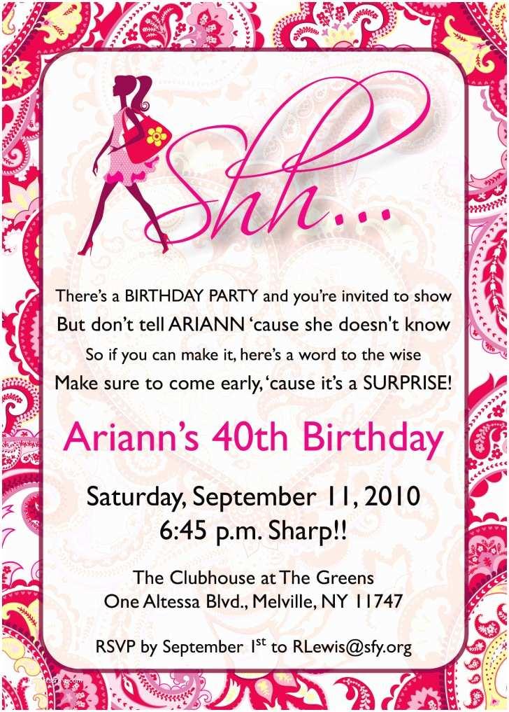 Surprise Party Invitation Template Free Printable Surprise Birthday Invitations