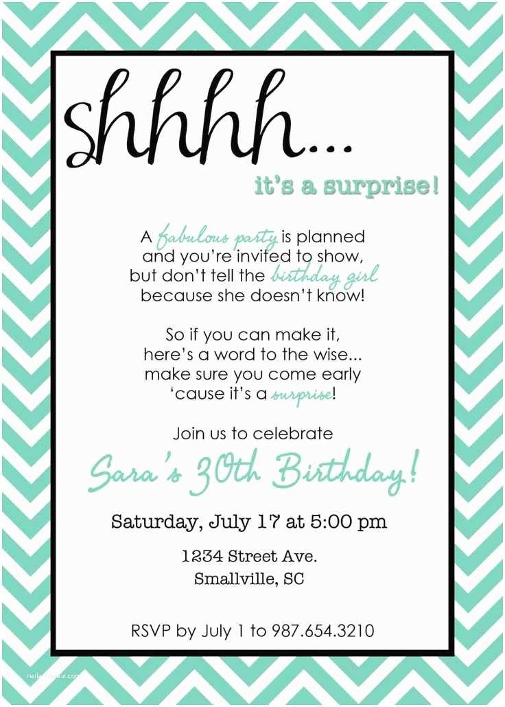 Surprise Party Invitation Template Printable Chevron Surprise Party Invitation