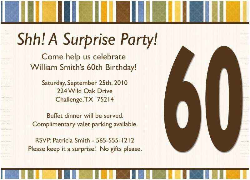 Surprise Party Invitation Template Surprise Birthday Invitation Wording Template