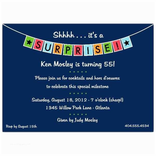 Surprise Party Invitation Template Surprise Birthday Invitations Templates Free