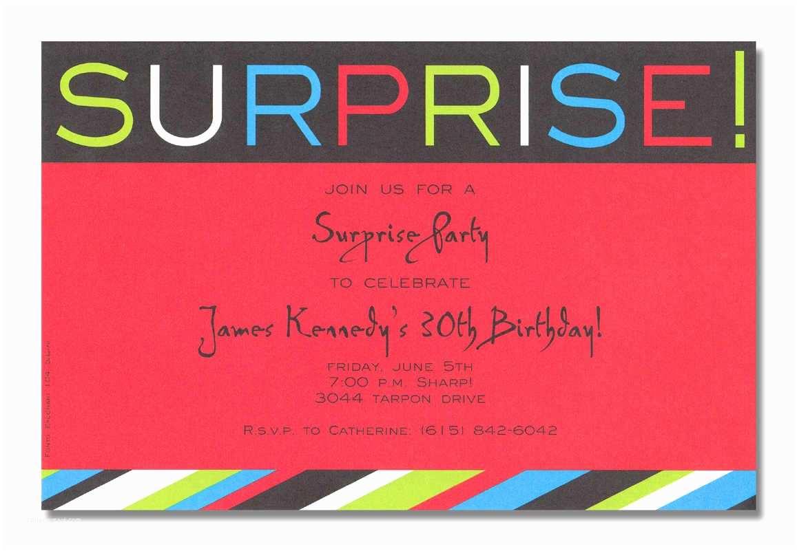 Surprise Party Invitation Template Surprise Birthday Party Invitation Template