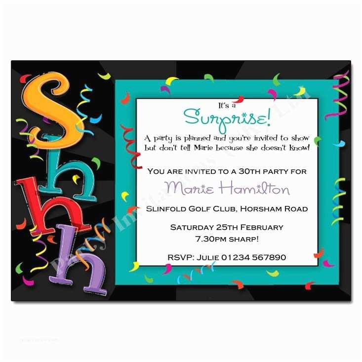 Surprise Party Invitation Template Surprise Party Invitation Template Free –