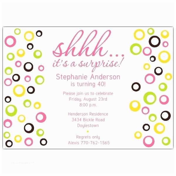 Surprise Party Invitation Template Surprise Party Invitation Template –