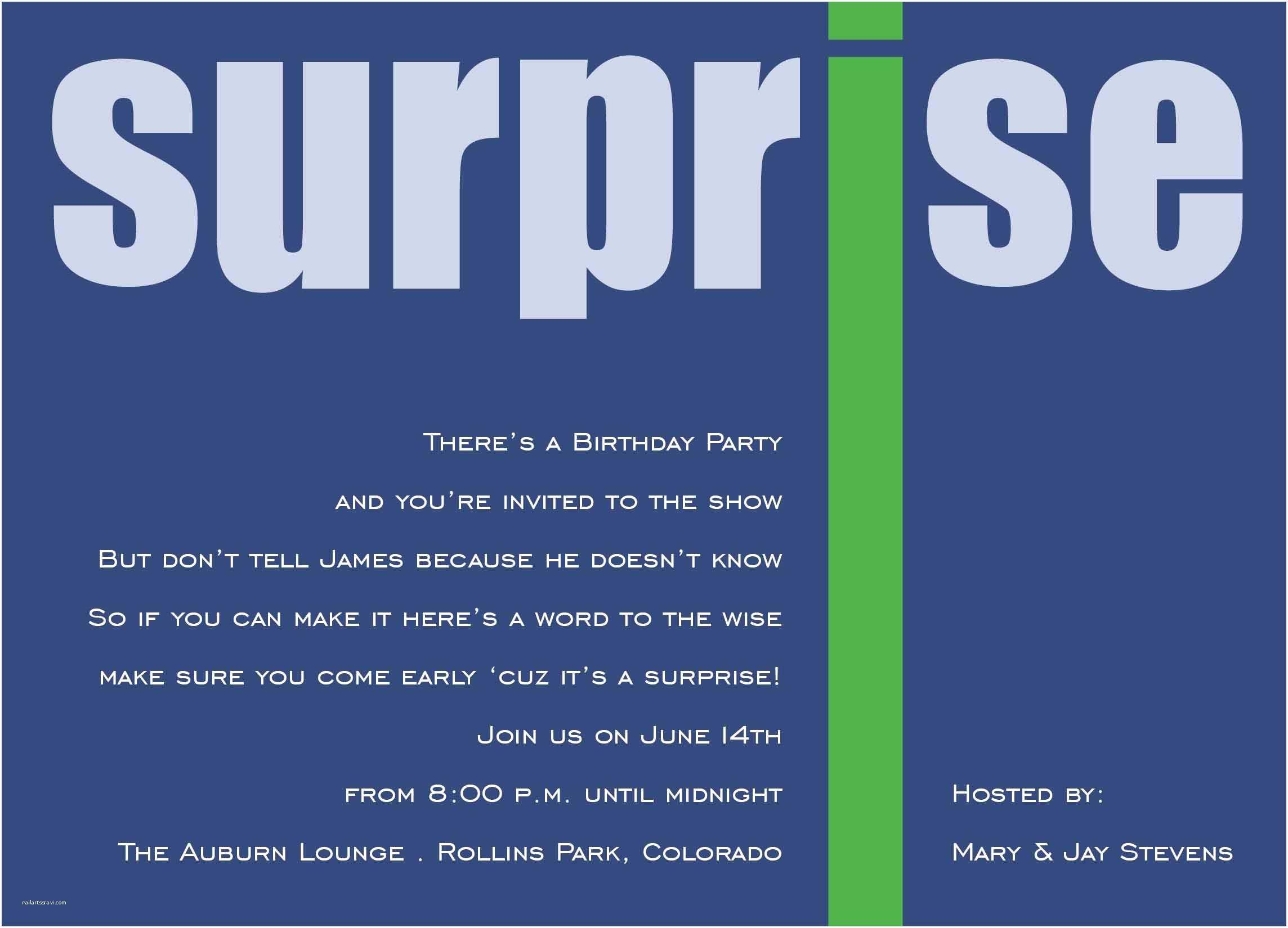 Surprise Party Invitation Template Surprise Party Invitation Template