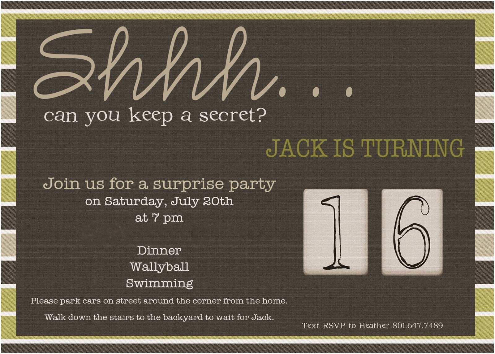 Surprise Party Invitation Wording 50th Surprise Birthday Invitations