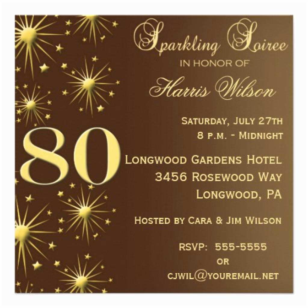 Surprise Party Invitations Templates Free 15 Sample 80th Birthday Invitations Templates Ideas