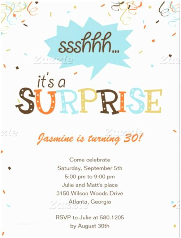 Surprise Party Invitations Templates Free 15 Surprise Birthday Invitations Free Psd Vector