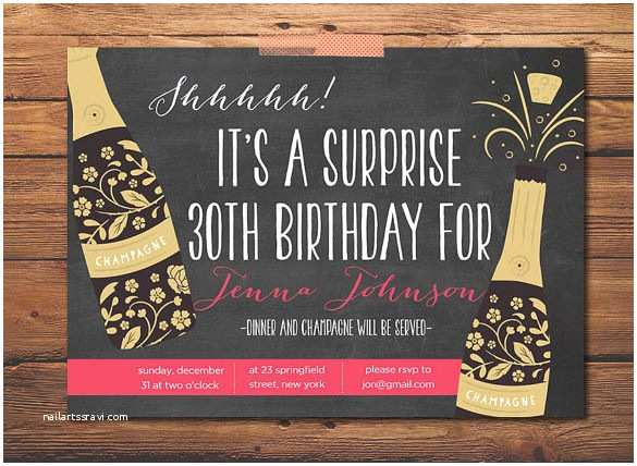 Surprise Party Invitations Templates Free 17 Outstanding Surprise Party Invitations &