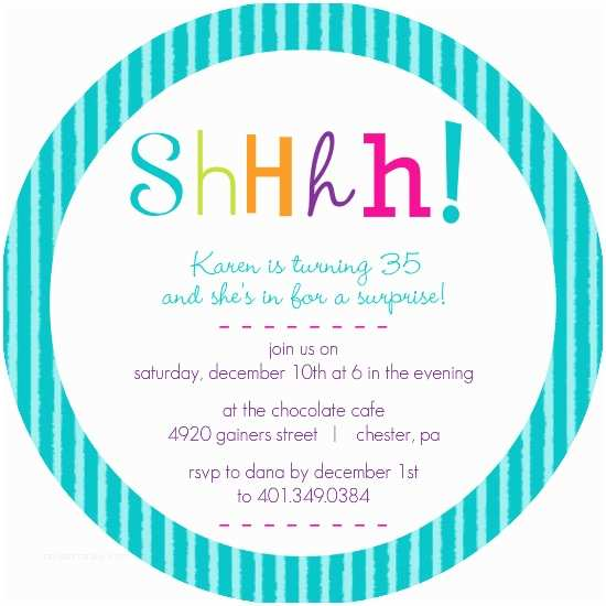 Surprise Party Invitations Templates Free 9 Best Of Surprise Birthday Invitations