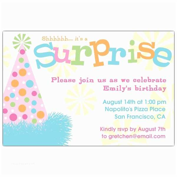 Surprise Party  Templates Free Free Surprise Birthday Party