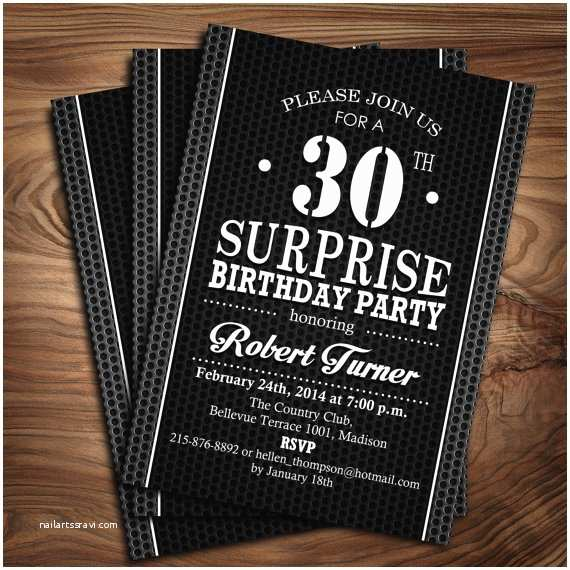 Surprise Party Invitations Templates Free Surprise Adult Birthday Party Invitation Digital Printable
