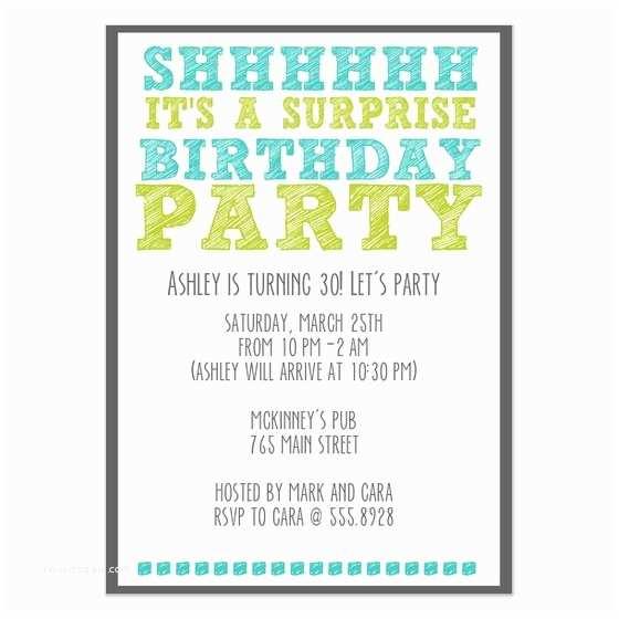 Surprise Party Invitations Templates Free Surprise Birthday Invitation Template
