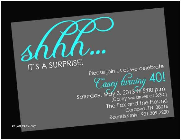 Surprise Party  Templates Free Surprise Birthday