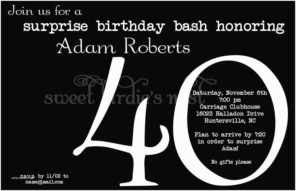 Surprise Party Invitations Templates Free Surprise Birthday Party Invitations Wording