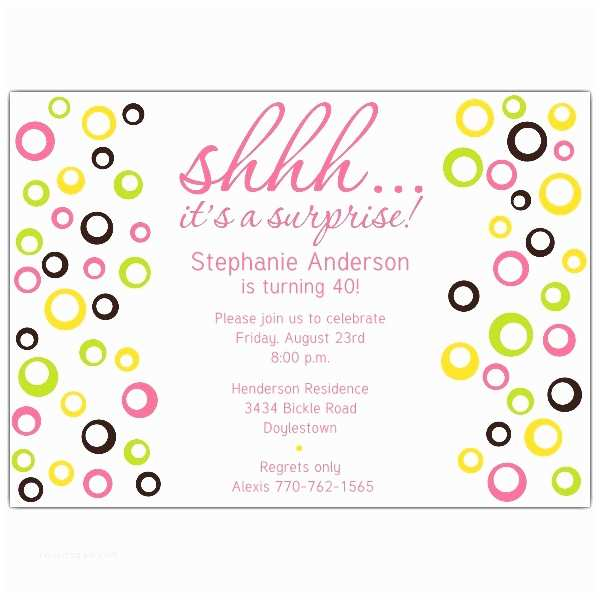 Surprise Party Invitations Templates Free Surprise Party Invitation Template –