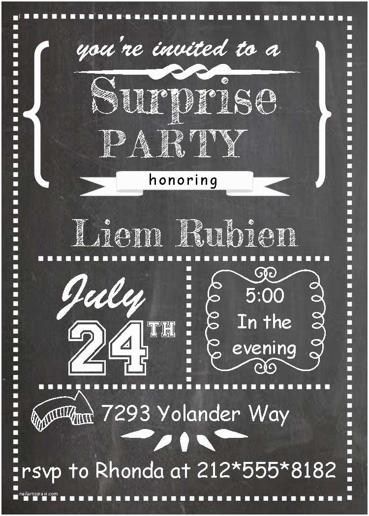 Surprise Party Invitations Templates Free Surprise Party Invitations New Selections Summer