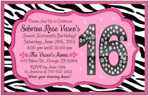 Sweet 16 Birthday Invitations 16th Birthday Invitation Ideas