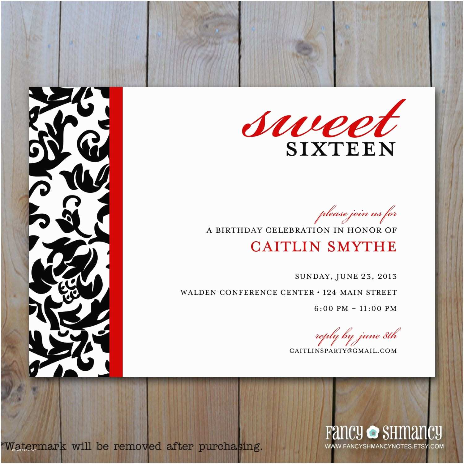 Sweet 16 Party Invitations Birthday Party Sweet 16 Birthday Invitations Templates