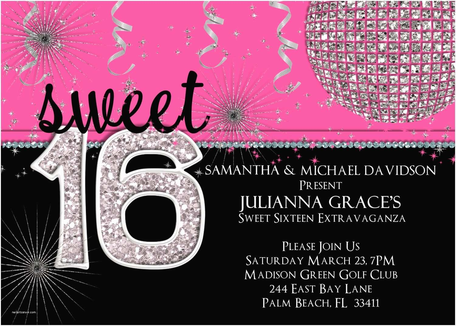 picture about Printable Sweet 16 Invitations named Cute 16 Occasion Invites Adorable 16 Invites Nailartssravi