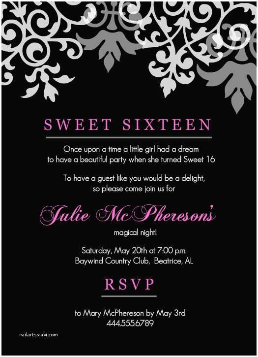 photo relating to Free Printable Sweet 16 Invitations known as Cute 16 Bash Invites Lovable 16 Birthday Invitation