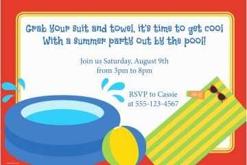 Swim Party Invitations Invitation Templates Pool