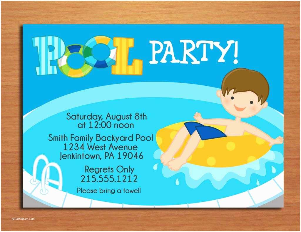 Swimming Party Invitations Free Printable Birthday Pool Party Invitations