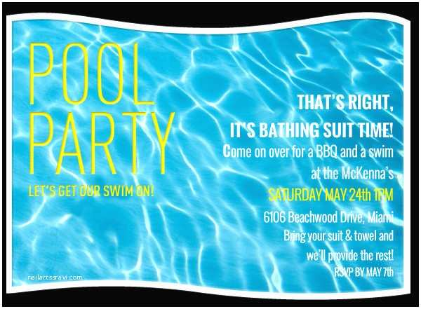 Swimming Party Invitations Pool Party Invitation Template 38 Free Psd format