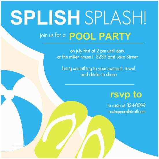 Swimming Party Invitations Pool Party Invitations Template