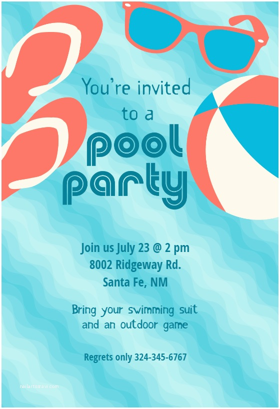 Swimming Party Invitations Pool Party Stuff Free Printable Summer Party Invitation