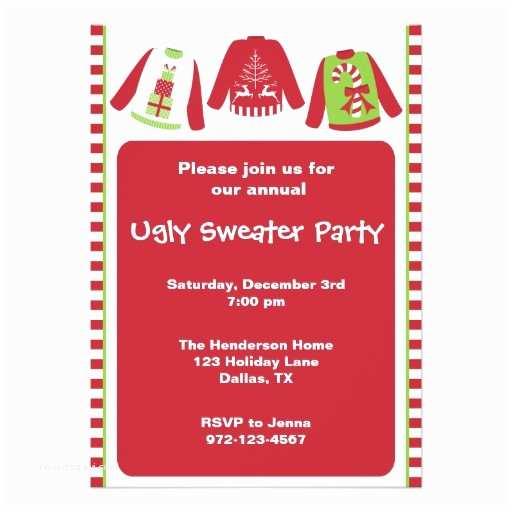 Tacky Christmas Sweater Party Invitation Wording Ugly Christmas Sweater Party Invitations