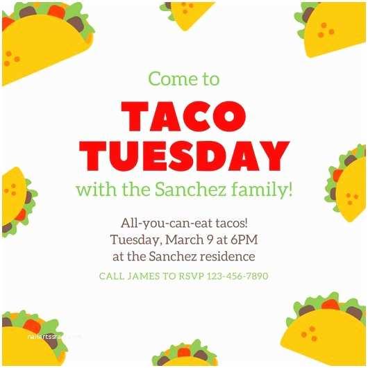 Taco Party Invitation Customize 3 650 Party Invitation Templates Online Canva