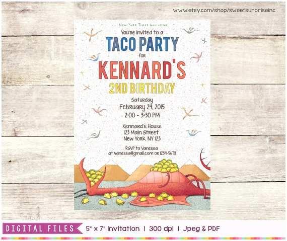 Taco Party Invitation Dragons Love Tacos Invitation Able Digital
