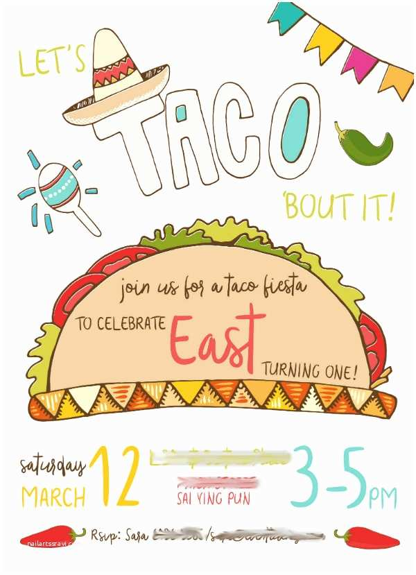 Taco Party Invitation event Lucky