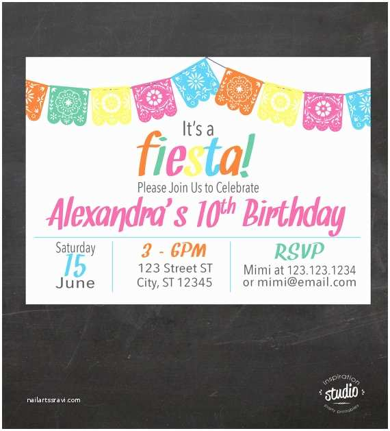 Taco Party Invitation Fiesta Taco Birthday Party Invitation Adult or Child