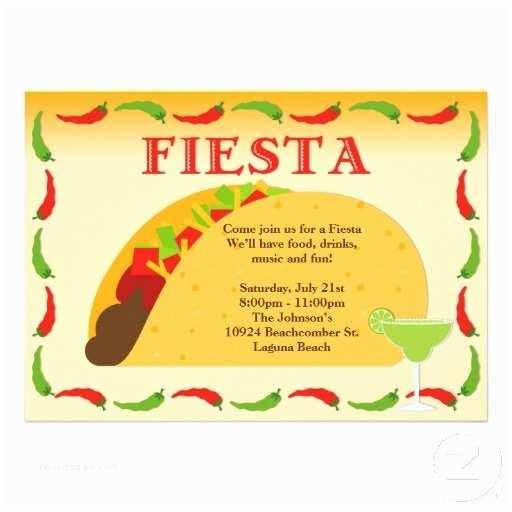 Taco Party Invitation Taco and Margarita Party Invitation
