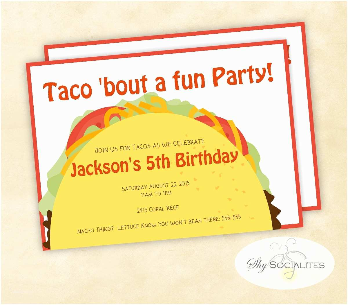 Taco Party Invitation Taco Party Taco Tuesday Cinco De Mayo Fiesta Taco Bar