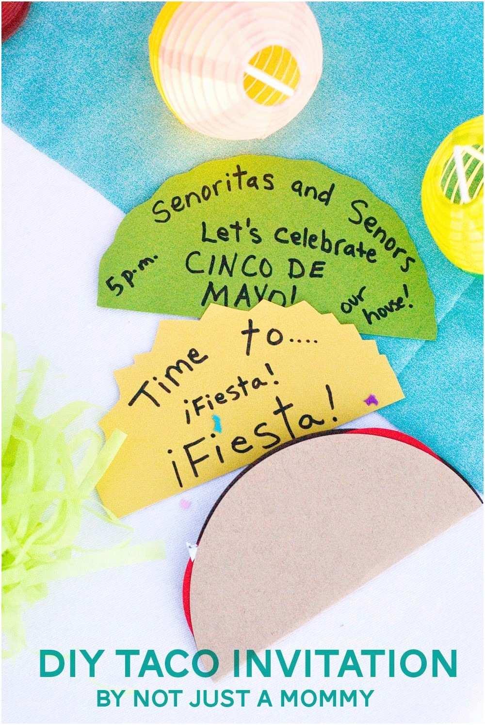 Taco Party Invitation the Party Hop Summer Fiesta Diy Taco Invitation Balloon