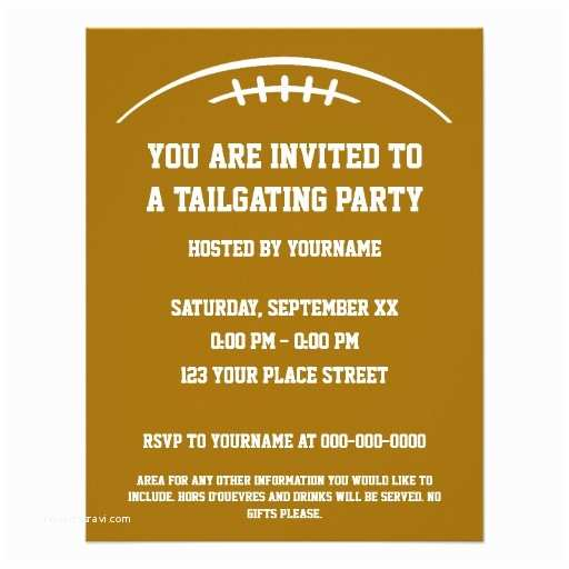 Tailgate Party Invitation Be Back