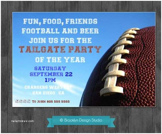 Tailgate Party Invitation Football Blue And Tailgate Parties On