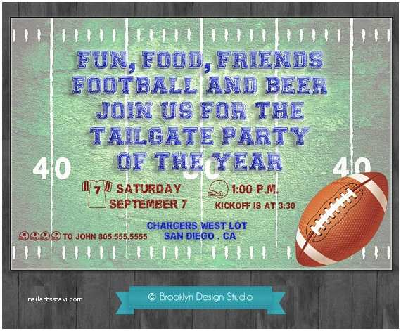 Tailgate Party Invitation Football Party Tailgate Party Custom by Brooklyndesignstudio