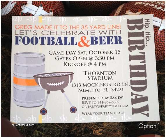 Tailgate Party Invitation Football Tailgate Party Invitation And Address