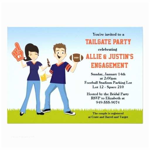 Tailgate Party Invitation Football Tailgate Party Invitation